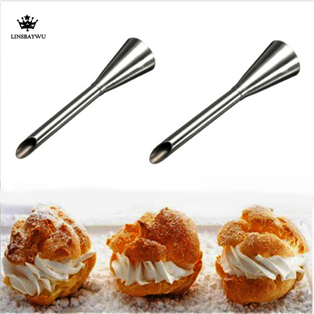 1Pcs Stainless Steel Icing Piping Nozzle Tip For Pastry Cake Puff Diy Tool Cream