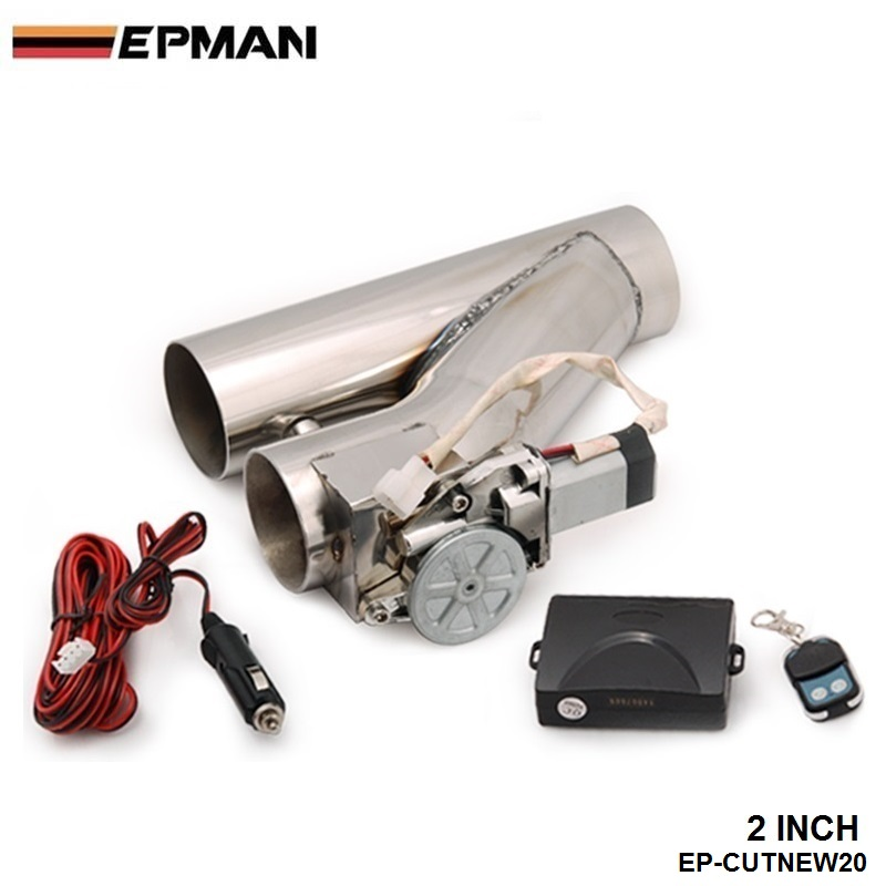 """EPMAN- 2"""" Stainless Steel Motorized Electric Exhaust Cutoff Bypass Valve Cutout+Remote For BMW E60 E61 5 SERIES 530d EP-CUTNEW20"""