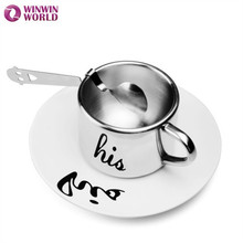 180ML Stainless Steel 6.5 oz Double-Wall Coffee Mug Soup Coffee Tea Drinking drinkware cute coffee mugs WW-FC016-4