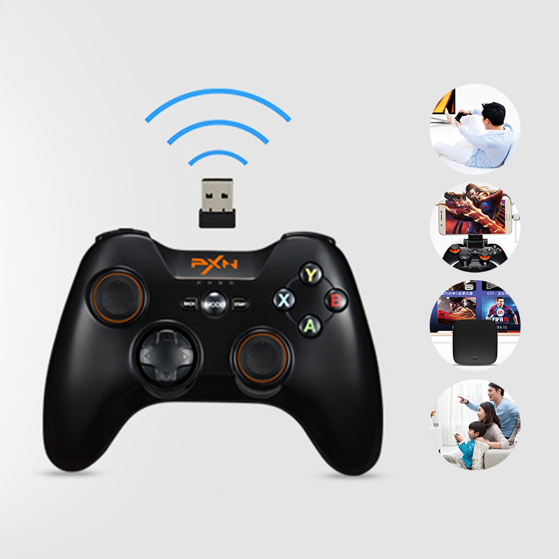 PXN 9603 2.4G Wireless Gamepad Game Controller Gaming Console Vibration Handle Joystick for PC Windows for PS3 for Andriod <br>