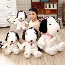 1pcs sitting size 35cm Cute Classic Cartoon Pilot Snoopie Plush Doll Stuffed Animals Toys Gift for Children and Girls