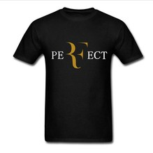 Perfect Roger Federer T Shirt Short Sleeve Cotton Rafael Nadal Bull Logo Tees Shirt Raqueta Tennis Rafael RF T-Shirt Cossfit Top
