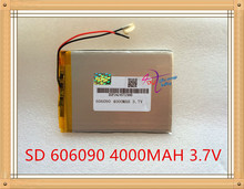 Liter energy battery 3.7V original dual engine N70HD 606090 built-in battery 4000mAh polymer lithium batteries(China)
