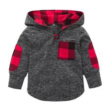 #4 DROPSHIP 2018 NEW Fashion popular Toddler Kid Baby Girl Plaid Hoodie Pocket Sweatshirt Pullover Tops Warm Clothes  Freeship (China)