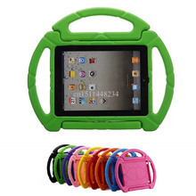 "For iPad 2 3 4 9.7"" Cover Kids Round steering wheel Safe Armor Shockproof Silicone Protector Case for ipad 4 A1460 A1459+Stylus"