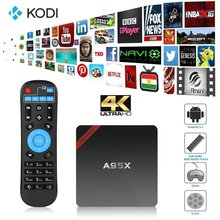1pc NEXBOX A95X Smart TV Box Android 5.1 Amlogic S905 Kodi 16.1 4K Set-top Box 1G/8G WiFi Media Player Hot Sale A95x OTT