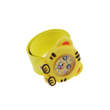 Toy Digital Slap Watch Cute Cat Slap Watches for Kids Yellow Flap ring  LL