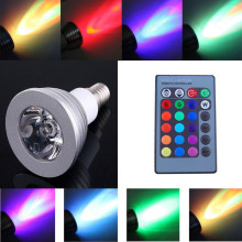 LED Christmas lights 6W E27 E14 MR16 B22 GU5.3 E26 GU10 Color LED RGB Magic Light Bulb 16 Colors Changing With Wireless Remote(China)