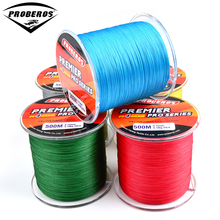 500M fishing line Green/Gray/Red/Blue/Yellow PE Line available 8LB-100LB fishing tackle Braided Line Diameter 0.12mm-0.6mm
