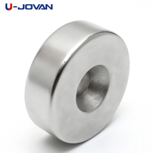 U-JOVAN 30 x 10 mm Hole 6 mm N35 Super Strong Ring Loop Countersunk Magnet Rare Earth Neo Neodymium Magnets Cylinder 6mm(China)