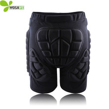 WOSAWE Hip Butt Protective Short Pad Ski Skate Snowboard Skiing Shorts Roller Padded Protection Gear Racing body armor shorts