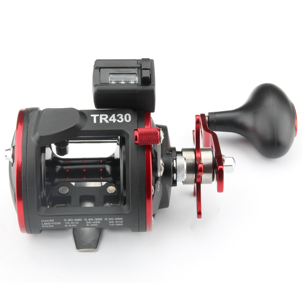RoseWood Fishing Trolling Reel TR430 With Counter Line Device Drum Fishing reel Vessel Trolling Boat Baitcast Right Hand Wheel (1)