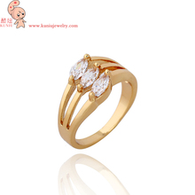 18K Real Gold Plated 1.5 carat Solitaire Zircon with 4 prongs Engagement Ring FREE DROP SHIPPING! J0085