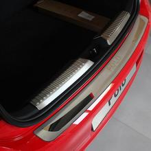 built guard bump guard plate after the pedal steel trunk For 2011 2012 2013 2014 VW Volkswagen POLO Hatchback
