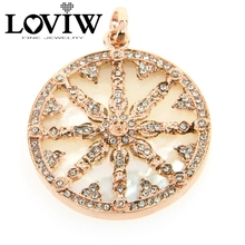 Fashion stylish 2 Colors Pearl Fritillaria Disc Wheel of Karma Pendants European Fashion Good Jewelry Fit DIY Necklace