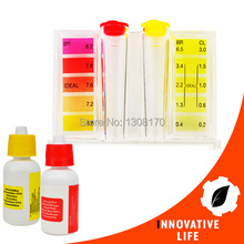 Water Quality Tester Test pH CL2 Chlorine HydroTools Pool Water Testing Tool Kit(China)