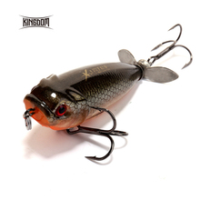 Kingdom 5.5cm/8.8g Floating Type Fishing lure Pencil Baits Plastic Hard Bait Spinner Tail Seven Color Available model 5283(China)