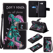 Colorful Pattern One eyed mouse Card Slot Wallet PU Leather Stand Flip Case Cover for Samsung Galaxy J5 2017