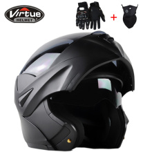 2016 High Quality casco capacetes motorcycle helmet Dual Visor Modular Flip Up motocross helmet DOT approved(China)