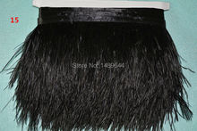new! 8-10 cm / 3-4 inches ostrich feather trimmed ostrich feather fringe 1m / lot apparel fabric production processes -015