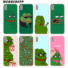 Buy WEBBEDEPP Frog meme pepe Hard Cover Case iPhone 8 7 6S Plus X/10 5 5S SE 5C 4 4S for $1.49 in AliExpress store