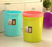 1PC Creative living room kitchen trash office household garbage basket circular toilet plastic dustbin LF 081(China)