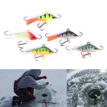 Winter Ice Fishing Lure Vertical Jigging Lead Fish Bait Fishing Hook Ice Balance Fish Jigs 5cm 7.4g 1PCS(China)