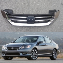 1 Pcs High Quality Chrome Front Upper Radiator Grill Grille Insert for Honda Accord 2013-2015