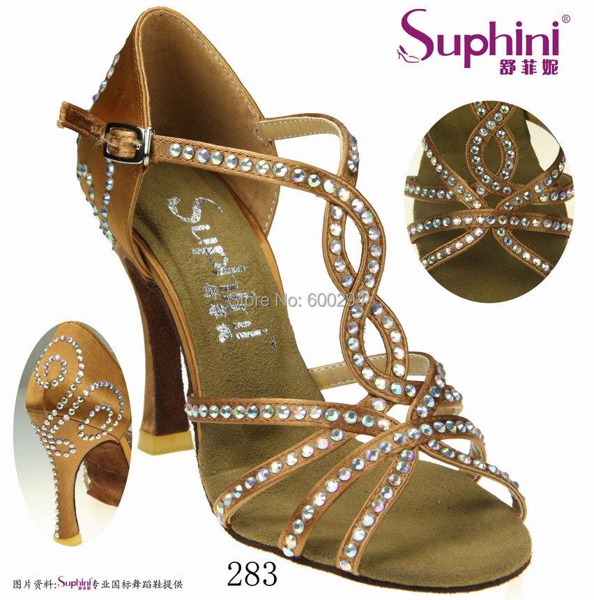 Free Shipping Top Sale Latin Dance Shoes, Rhinestone Dance Shoe, Fashion dance Woman Salsa Shoes<br><br>Aliexpress