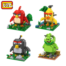 LOZ Movie Pigs and Birds Mini Diamond Building Blocks Children Intelligence Models Building Toy