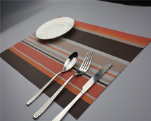 4pcs/Lot 11 Colors Table PVC Trivet Kitchen Table Bar Mat Table PVC Strip Placemats Table Decoration and Accessories J0810