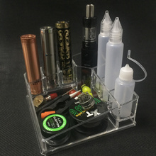 E-XY Vaporizer Vape Box Mod Bottle RDA RBA Atomizer Battery Display Case Electronic Cigarette Stand Shelf Holder Exhibition rack