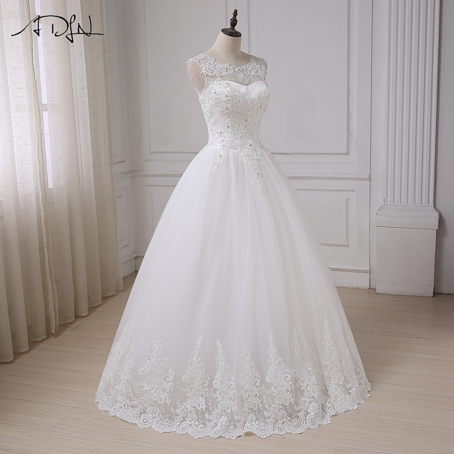 ADLN Vintage Wedding Dresses Cap Sleeve Sequins Applique Elegant Wedding Gowns Vestido De Novia Lace-up Back Custom Made 9