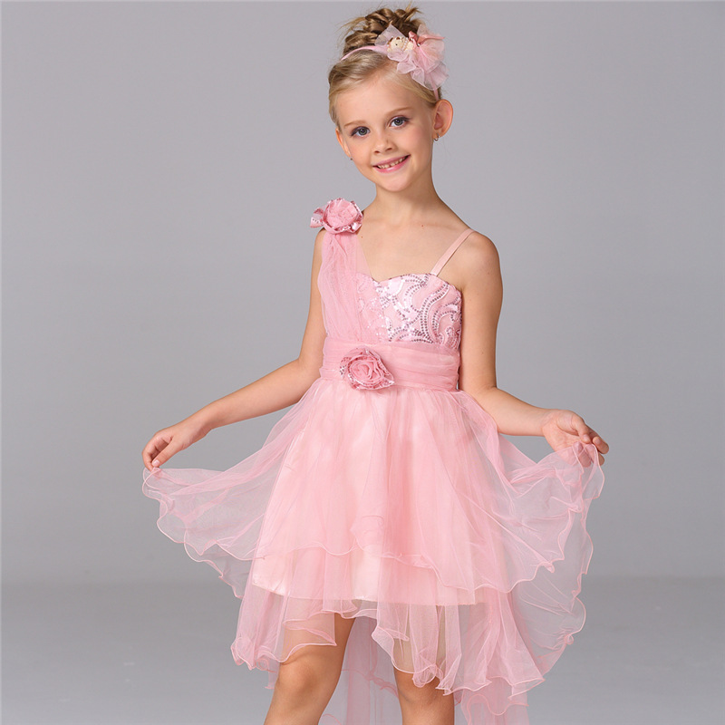 2016 summer new fashion flower princess girl dress,lace rose Party Wedding Birthday girls dresses,Candy princess tutu elegant<br><br>Aliexpress