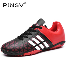PINSV Waterproof Football Boots Soccer Shoes Men Superfly Cheap Football Shoes For Sale Kids Cleats Indoor Soccer Shoe Chuteira(China)