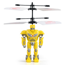 helicopter robot pocket drone toys drone helicopter ufo toys for children rc quadcopter drone rc toys selfie drones wholesale(China)