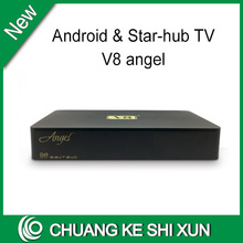 2016 newest Amlogic S805 with Android 4.4 starhub tv box V8 Angel singapore