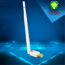 Portable Mini 150M 802.11n/g/b USB Wireless LAN Adapter WiFi Network Card Free Driver With 5dBi High-gain Antenna For PC win 7 8(China)