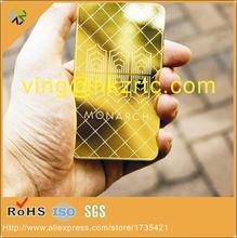 custom  gold metal business card/metal membership card/etched metal card with customized printing
