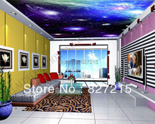 u-9437 cosmic and star  printing pvc films for home decoration 2016 brand new ceiling construction material