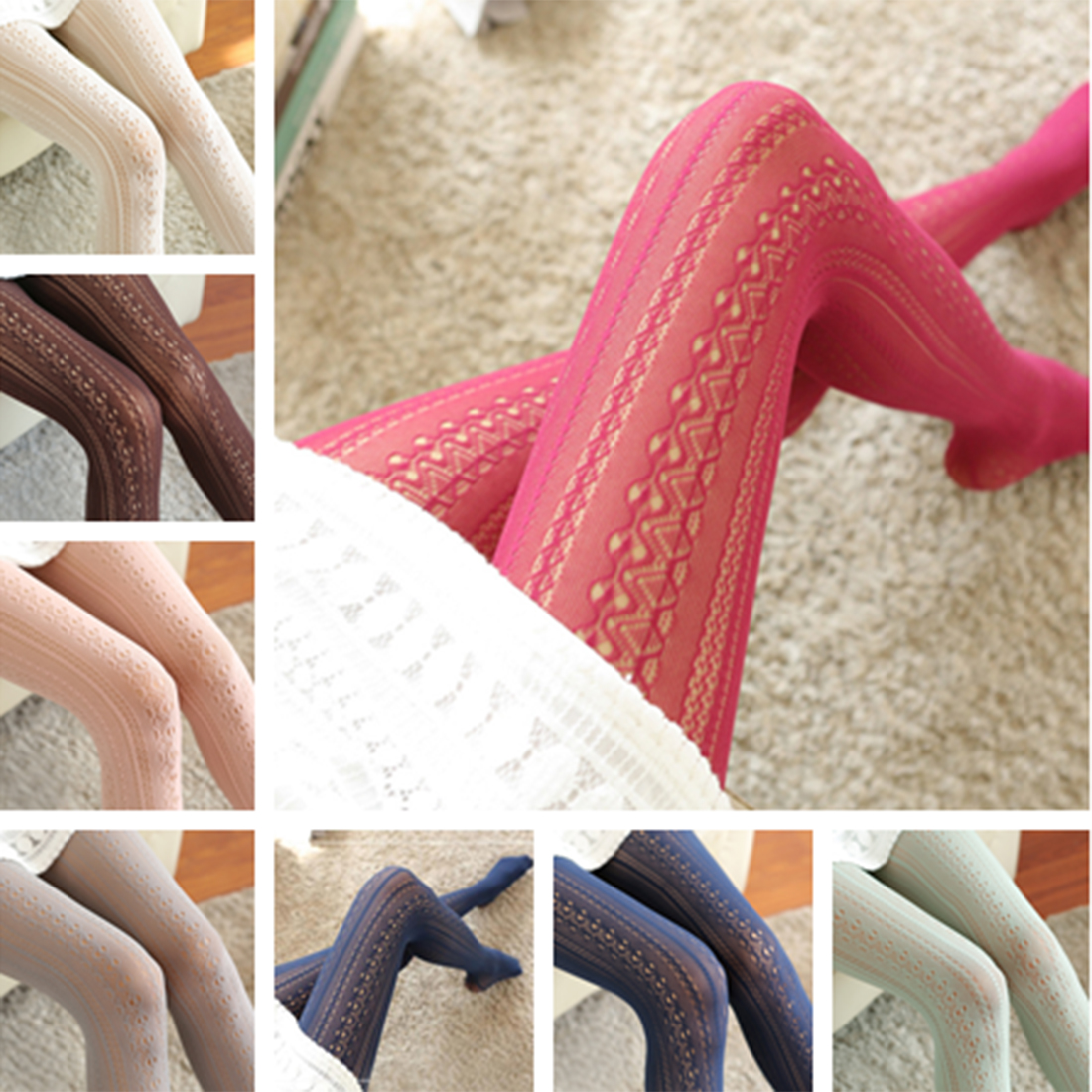 2017 Elegant Design Hollow out lace bars in fishnet stockings sexy lace pantyhose sweet women girls tights(China (Mainland))