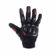 Fashion Full Finger Motorcycle Gloves Motocross Luvas Guantes Green Orange Moto Protective Gears Glove For Men Free Shipping(China)