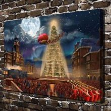 H1390 Thomas Kinkade The Polar Express ,HD Canvas Print Home decoration Living Room bedroom  Wall  pictures Art painting