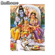 New 5D DIY Diamond Painting Indian Gods Crystal Diamond Painting Cross Stitch Embroidery Needlework Home Decoration CC0216