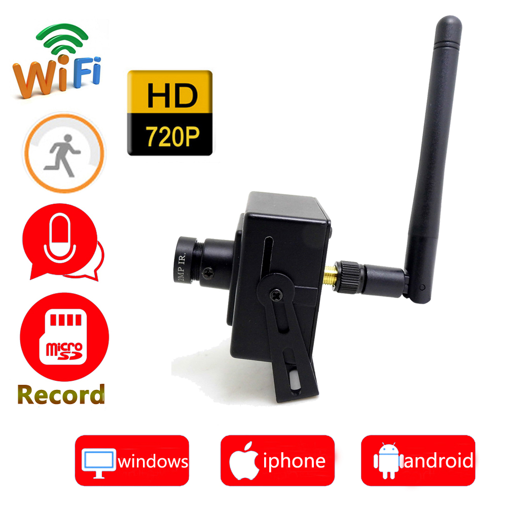 720p HD ip camera wifi mini wireless security monitoring cctv wi-fi home surveillance smart micro cam support micro sd record<br>