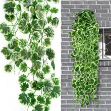90CM Long Artificial Vine Garland Begonia Leaves Fake Hanging Leaf Decoration