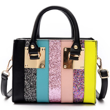 High quality women handbag Colorful Sequin fashion bag Ladies leisure shopping Crossbody Shoulder bag Teenage girls Satchel