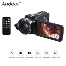 "Andoer 24M Digital Video Camera 1080P Full HD with Night-shot Digital Camcorder 3.0"" LCD with Hotshoe for External Microphone(China)"