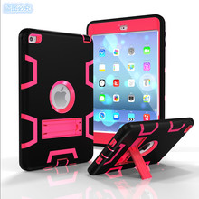 NEW Silica gel+PC High Quality Armor Shockproof Cases Cover For iPad air 2 Pro 9.7 Silicone Heavy Duty Hard Cover Full Body Prot