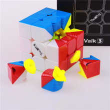 Qiyi valk3 speed cube toy stickerless cubo magico professional funny toys for children puzzle valk 3 Competition cube(China)